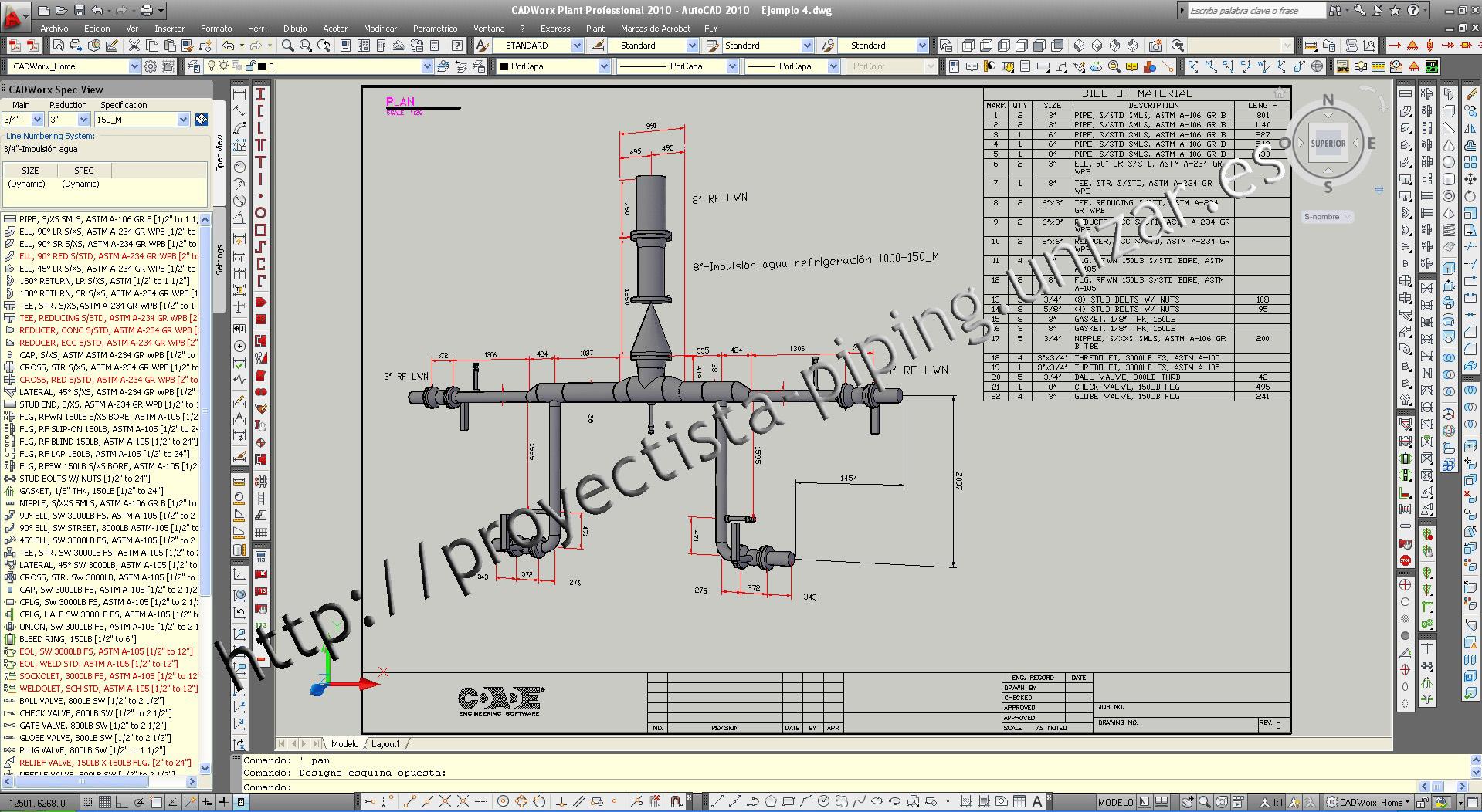 Cursos Proyectista Piping, formación diseño y cálculo de tuberías y ...